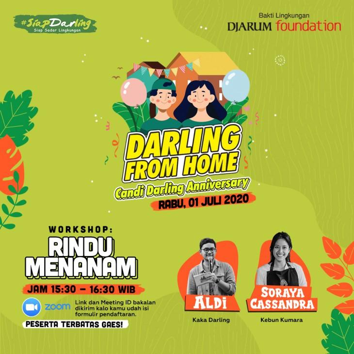 Workshop Webinar #DarlingFromHome: Rindu Menanam