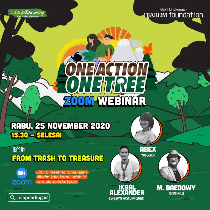 Webinar #OneActionOneTree: From Trash to Treasure
