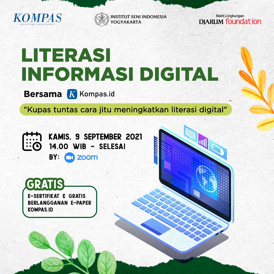 Webinar Literasi Informasi Digital Bersama Kompas.id bersama Institut Seni Indonesia